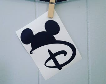 Disney Car Decal Disney Decal Disney Sticker Walt Disney Car Decal Walt Disney Decal Mickey Mouse Car Decal Mickey Mouse Decal Mickey Mouse
