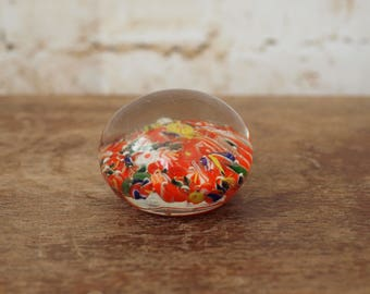 Colourful Mixed Cane Millefiori Glass Paperweight