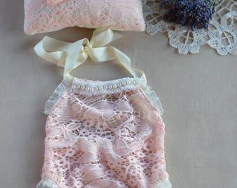 Exclusive newborn baby set , newpbornprop, photoprops,,romper,  headband,pillow