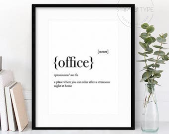 The office quote etsy for Bureau word origin
