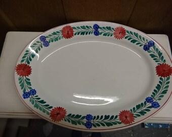George Jones & Sons Crescent/Platter/Meat Platter/Serving Platter/Porcelain/Vintage/1920s