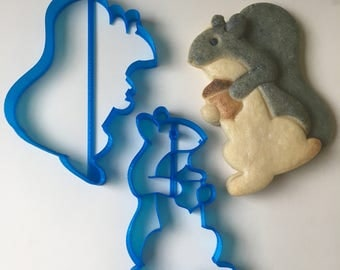 Squirrel with Acorn Cookie Cutter Set