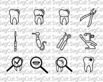 Dentist file Clipart Tooth svg, tooth monogram svg - tooth clipart - teeth digital download svg, eps, dxf, png