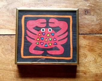 Vintage Kuna Indian Mola, Kuna Indian Mola, Kuna Yala, Panama Indian Mola, Native Indian Art