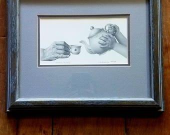 JD Hillberry firmado imprimir, JD Hillberry arte, lápiz, arte moderno