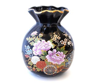 Small Japanese Floral Vase