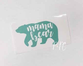 Mama Bear Decal, Car Decal