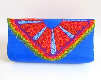 Unique Blue Clutch Purse, OOAK Blue Clutch, African Clutch, Modern Blue Clutch, Trendy Clutch, Colorful Clutch Bag, Royal Blue