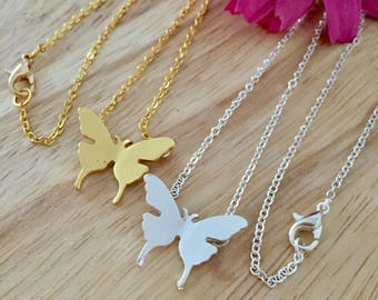 Butterfly Necklace, Butterfly Jewelry, Gold Butterfly, Silver Butterfly, Butterfly Charm, Delicate Butterfly, Bridesmaids Necklace