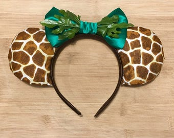 Giraffe Animal Kingdom Mouse Ears Headband