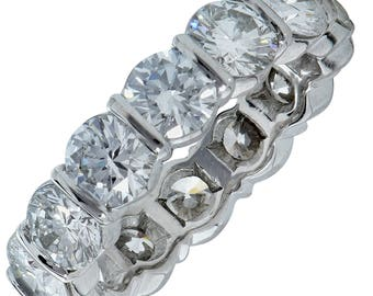 Authentic Tiffany & Co. Diamond Wedding Eternity Band Ring
