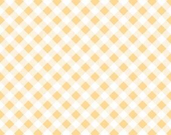 Yellow Gingham Fabric - Riley Blake Yellow Gingham Fabric - Yellow and White Check Fabric