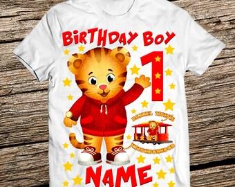 Daniel Tiger birthday shirt, Daniel The Tiger birthday shirts, Daniel The Tiger birthday shirt boy, Personalized Birthday Boy shirt