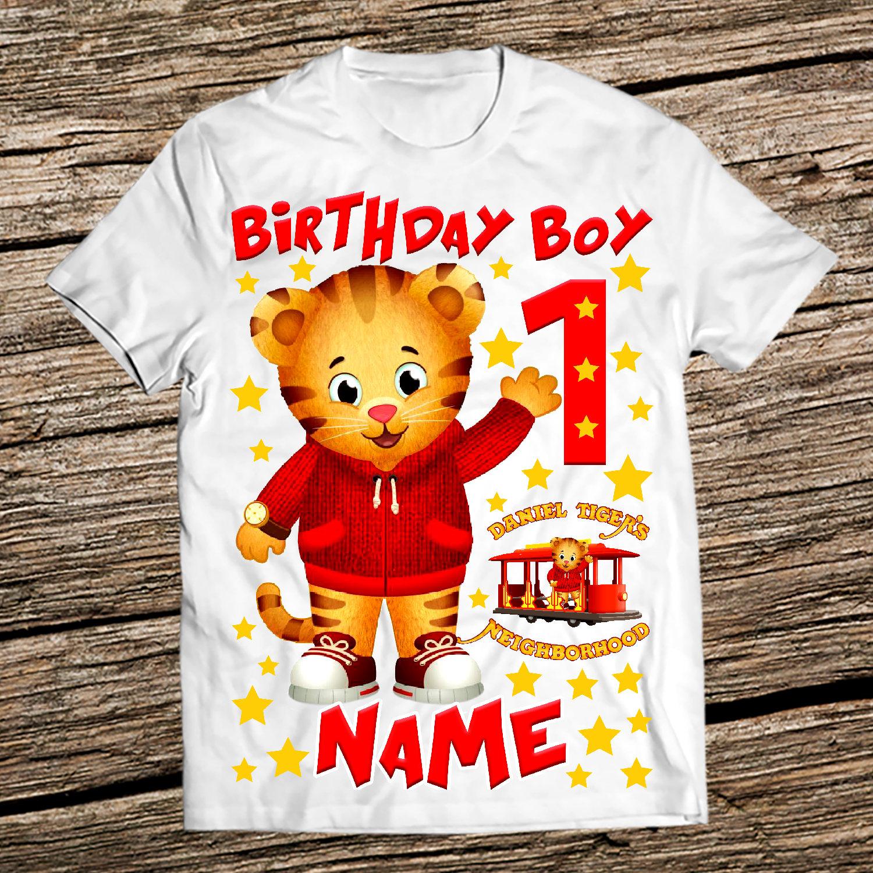 Daniel Tiger Birthday Shirt Daniel The Tiger Birthday Shirts