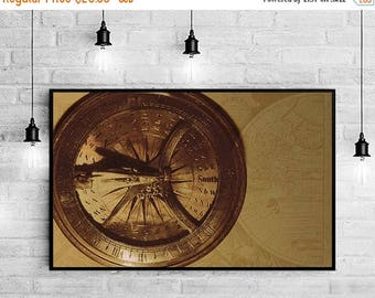 Photography Sale Compass Wall Art, Compass Wall Decor, Compass Decor, Compass Print, Gift for Traveler, Traveler Gift, Traveler Art Print, T