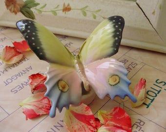 Vintage Volkstedt  porcelain  figurine,butterfly,handpainted,stamped