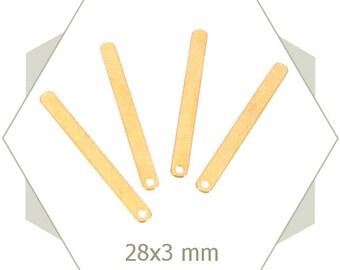 Matte gold sticks, BG79 8 charms