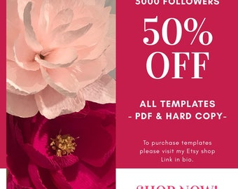 50% OFF hard copy template  (15.00 each template)