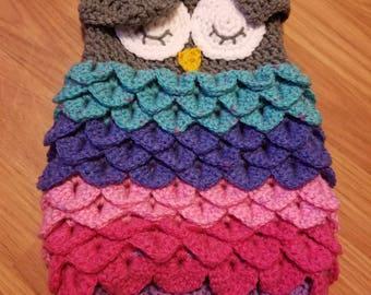 Owl baby sleep sack/ cocoon/ Photo prop