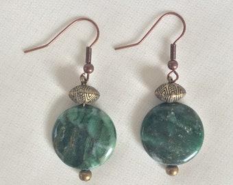 African Jade Earrings