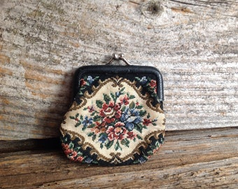 Vintage Tapestry Coin Purse vintage/coinpurse/tapestry/