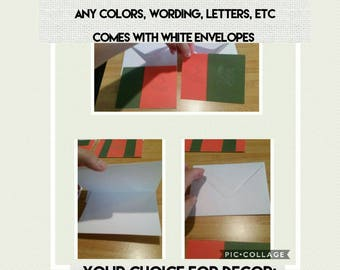 Accepting Orders for Customized Sports Football Cards & Envelopes
