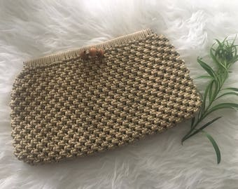 Vintage Clutch with Bead Detail