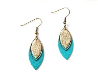 Pia earrings emerald green and gold