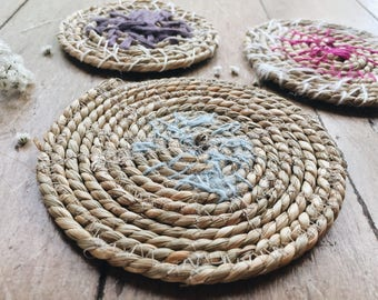 Seagrass Coaster Set