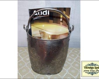 Metal bucket at home decor, Metal bucket design, Metal bucket decoration, Metal bucket oval, Metal bucket steel, Metal bucket for sale 20 cm