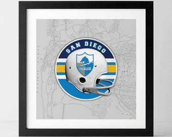 Vintage NFL: San Diego Chargers-inspired