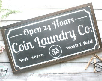 Laundry sign, wood sign, home decor, rustic, laundry room decor, laundry print, laundry room art, laundry room decals, black and white, home