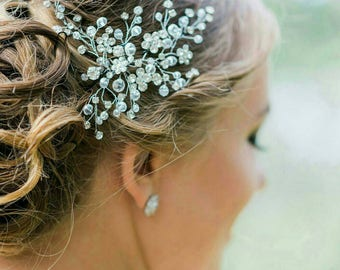 FREE SHIPPING! Wedding Hair Piece, Bridal Hair Comb, Bridal Headpiece, Wedding Hair Vine, Bridal Hair Vine, Bridal Hair Accessories