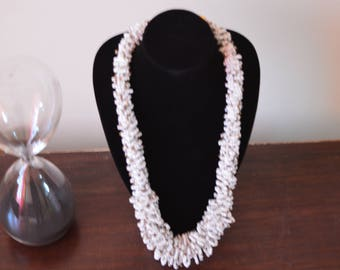 African Maasai Beaded Necklace | African Jewelry | Tribal Necklace | Chunky | Ethnic jewelry | White color |One size fits all | Gift for Her