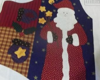 Christmas Vest Fabric Panel
