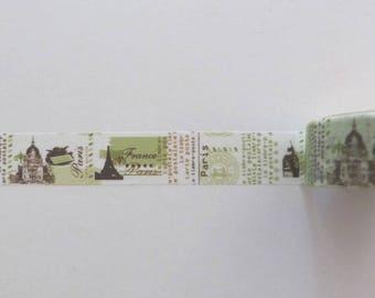 Washi Tape/Masking Tape/tape adhesive scrapbooking VINTAGE PARIS