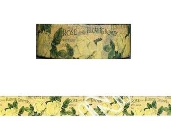 Washi Tape/Masking Tape/tape scrapbooking VINTAGE pink yellow