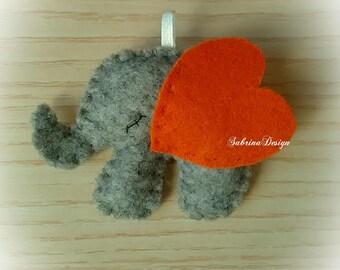 Elephant felt favor baptism baby shower favors birthday favors communion elephant pendant felt keychain