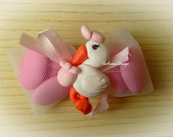 Stork postman, polymer clay boy favor, baptism favors, baby shower favors