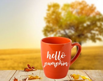 Hello Pumpkin Mug, Pumpkin Mug, Fall Coffee Mug, Fall Coffee Cups, Pumpkin Coffee Mug, Pumpkin Coffee Cups, Hello Pumpkin, Fall Gifts