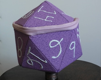 Purple Pattern D20 Dice Bag
