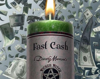 Fast Cash  Wicked Witch Mojo Candle 2 Inches by 4.5 Inches Tall