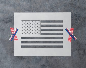 American Flag Stencil - Reusable DIY Craft Stencils of the American Flag