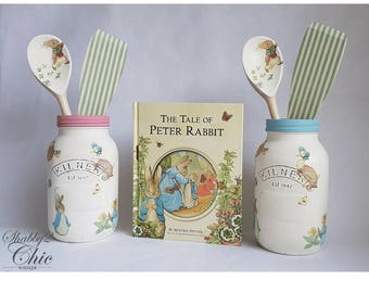 Beatrix Potter/Peter Rabbit & Friends 1 Litre Kilner Jar Kitchenwear/Housewarming/Birthday/Nursery Gift
