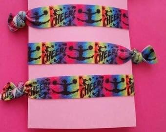 Set of 4 cheerleading elastic Hair ties