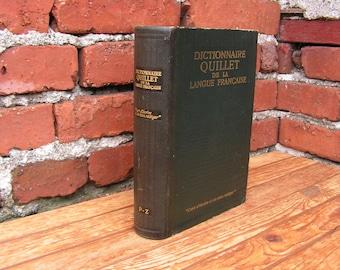 Dictionnaire français, Vocabulaire d'interprétation P-Z, Livre antique, French antique book, French dictionary, 1940 book, Classic book