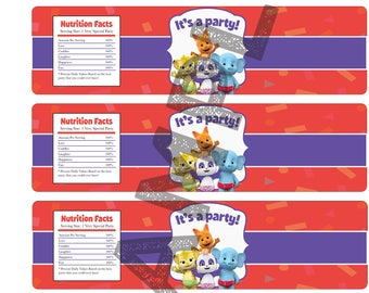 Custom Word Party Water Bottle Labels (Would include custom writing)