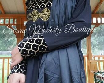 Simple Aline Black Abaya Islamic Clothing Maxi Abaya