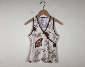 90s Asian Style Top Size Small