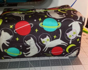 Cats In Space Zippered Cosmetic Bag